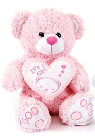 OSO IT'S A GIRL CORAZON 20cm